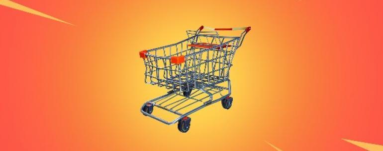 «Fortnite» получает свое первое транспортное средство: тележки для покупок