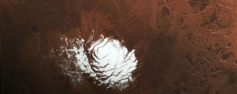 #фото дня | Редкий снимок марсианского Южного полюса