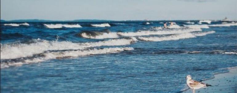 Когда я смотрю на море, мне кажется, что его волны уносят мою печаль.