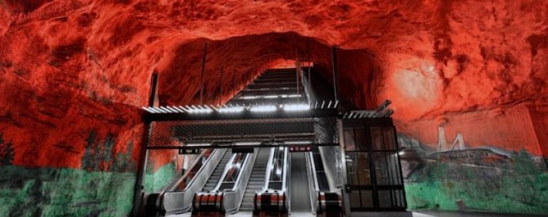 #галерея   Метро Стокгольма: одно из самых футуристичных мест на Земле
