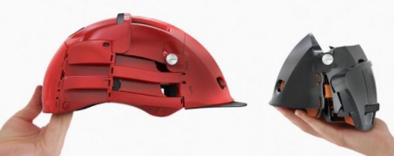 Велосипедисты оценят: складывающийся шлем