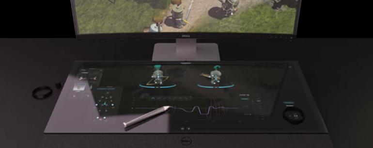 Концепт смарт-стола с 5К-монитором от Dell