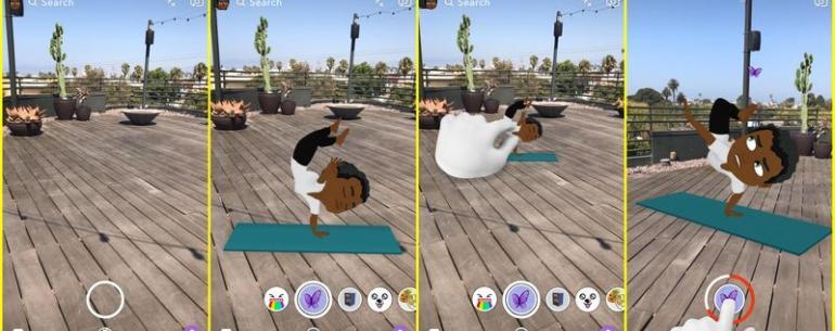 Аватары Snapchat Bitmoji теперь трехмерны и анимированы
