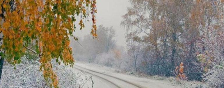 Встреча зимы и осени....