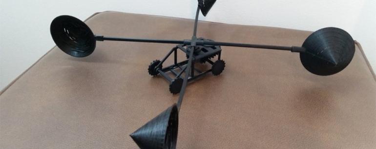 #видео | Необычный концепт автомобиля с ветряным двигателем