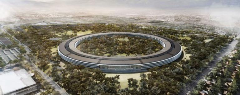 #видео | Как продвигается строительство нового кампуса Apple